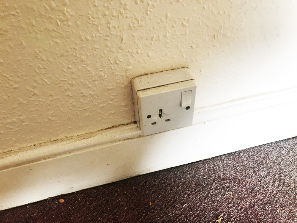 Picture of Damaged Electrical Socket